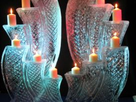 Candle Display Double Ice Sculpture