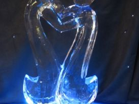 Contemporary Lovers 1 Ice Sculpture