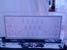Table Seating Plan 3 Ice Sculpture