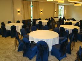 blue chair covers